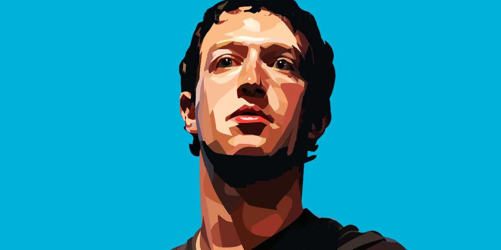 Mark Zuckerberg olhando para frente