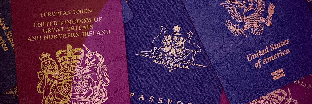 vários passaportes